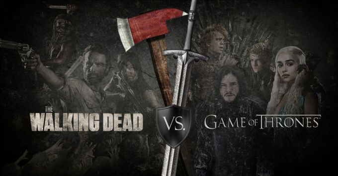 Image result for game of thrones vs walking dead